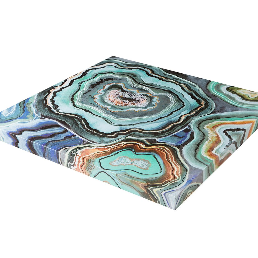 Madison Park ''Aqua Agate'' Canvas Wall Art