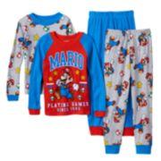 Super Mario 4-Piece Pajama Set - Boys 6-12