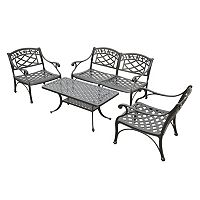 Sedona 4 pc Cast Aluminum Outdoor Conversion Seating Set