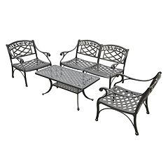 Sedona 4-Piece Cast Aluminum Outdoor Conversion Seating Set