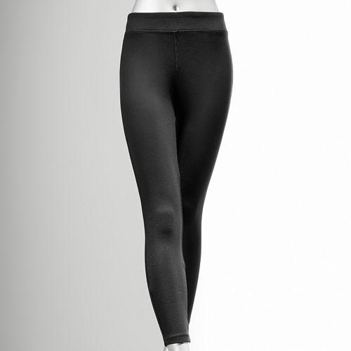 Women's Simply Vera Vera Wang Solid Brushed Leggings