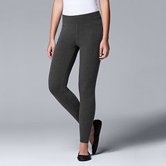 Women's Simply Vera Vera Wang Solid Brushed Leggings