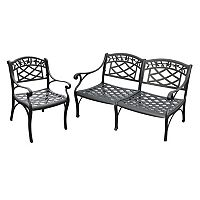 Sedona 2 pc Cast Aluminum Outdoor Seating Set