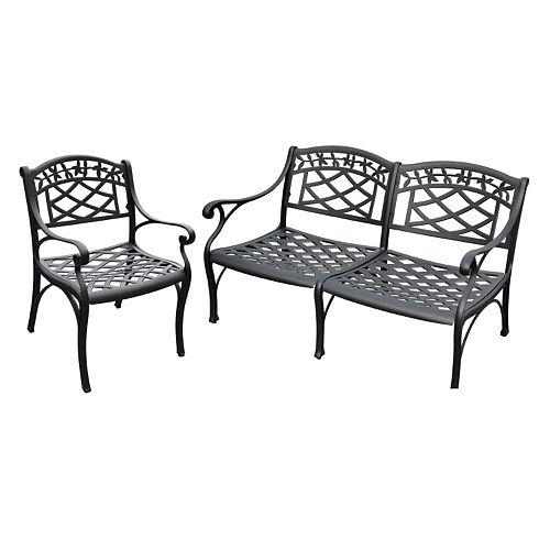 Sedona 2-Piece Cast Aluminum Outdoor Seating Set