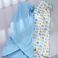 Breathable Baby Elephant 2 pkSwaddle Blankets - Baby Boy