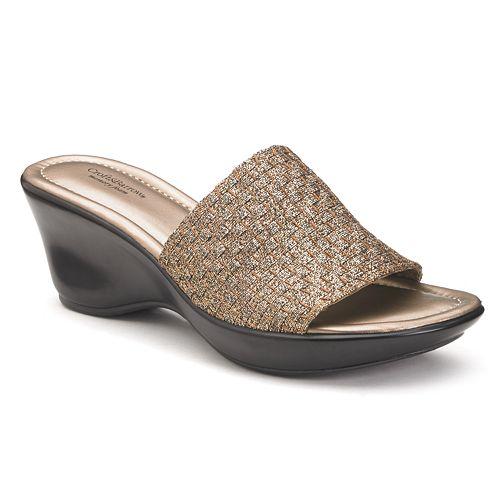 25faa2b4a66 Croft   Barrow® Alyse Women s Woven Wedge Sandals