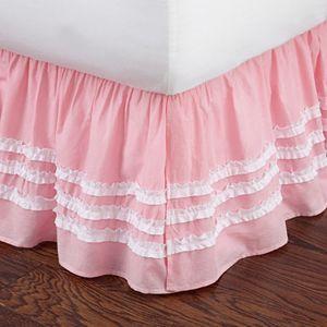 Ruffled Stripe Bed Skirt