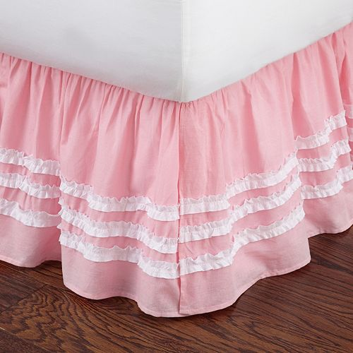 Ruffled Stripe Bed Skirt