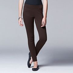 Simply Vera Vera Wang Solid Ponte Leggings