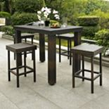 Palm Harbor 5-Piece Outdoor Wicker High Dining Set