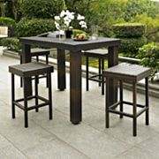 Palm Harbor 5 pc Outdoor Wicker High Dining Set