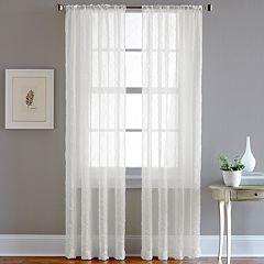 CHF Pintuck Sheer Voile Window Curtain - 51'' x 84''