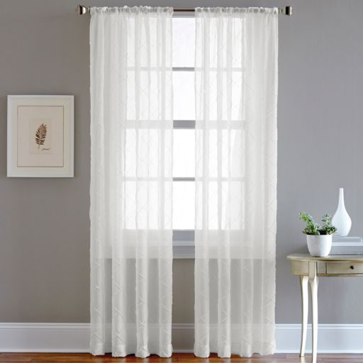 CHF Pintuck Sheer Voile Window Curtain - 51'' x 63''
