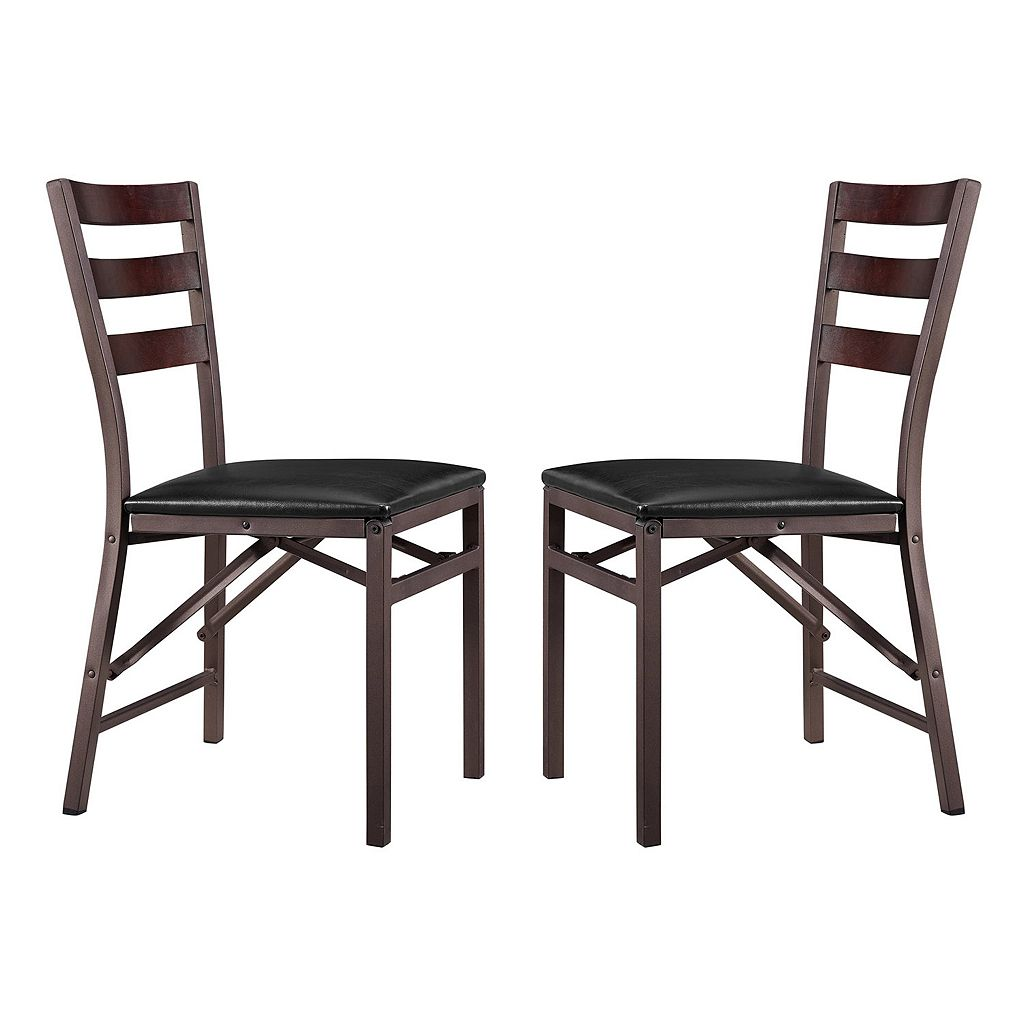 Linon Arista Metal Folding Chair 2-piece Set