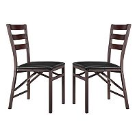 Linon Arista Metal Folding Chair 2-piece Set