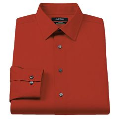 Men's Apt. 9® Extra-Slim Fit Solid Stretch Spread-Collar Dress Shirt