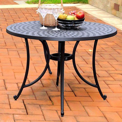 Crosley Outdoor 42-in. Sedona Cast Aluminum Dining Table