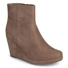 Journee Collection Koala Women's Faux Suede Wedge Booties