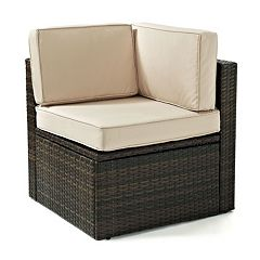 Crosley Outdoor Palm Harbor Wicker Corner Chair