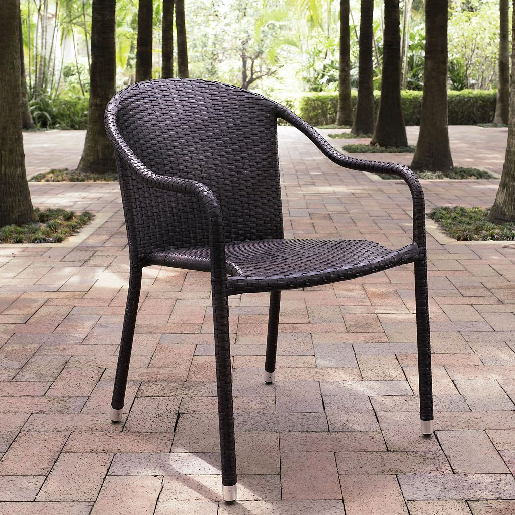Palm Harbor 4-Piece Outdoor Stackable Wicker Chair set