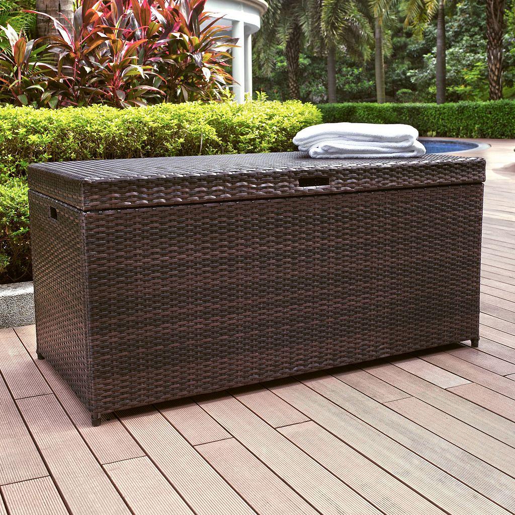 Palm Harbor Outdoor Wicker Storage Bin