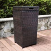 Palm Harbor Outdoor Wicker Trash Bin