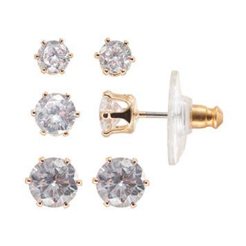 Napier Cubic Zirconia Stud Earring Set