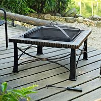 Firestone Square Slate Fire Pit