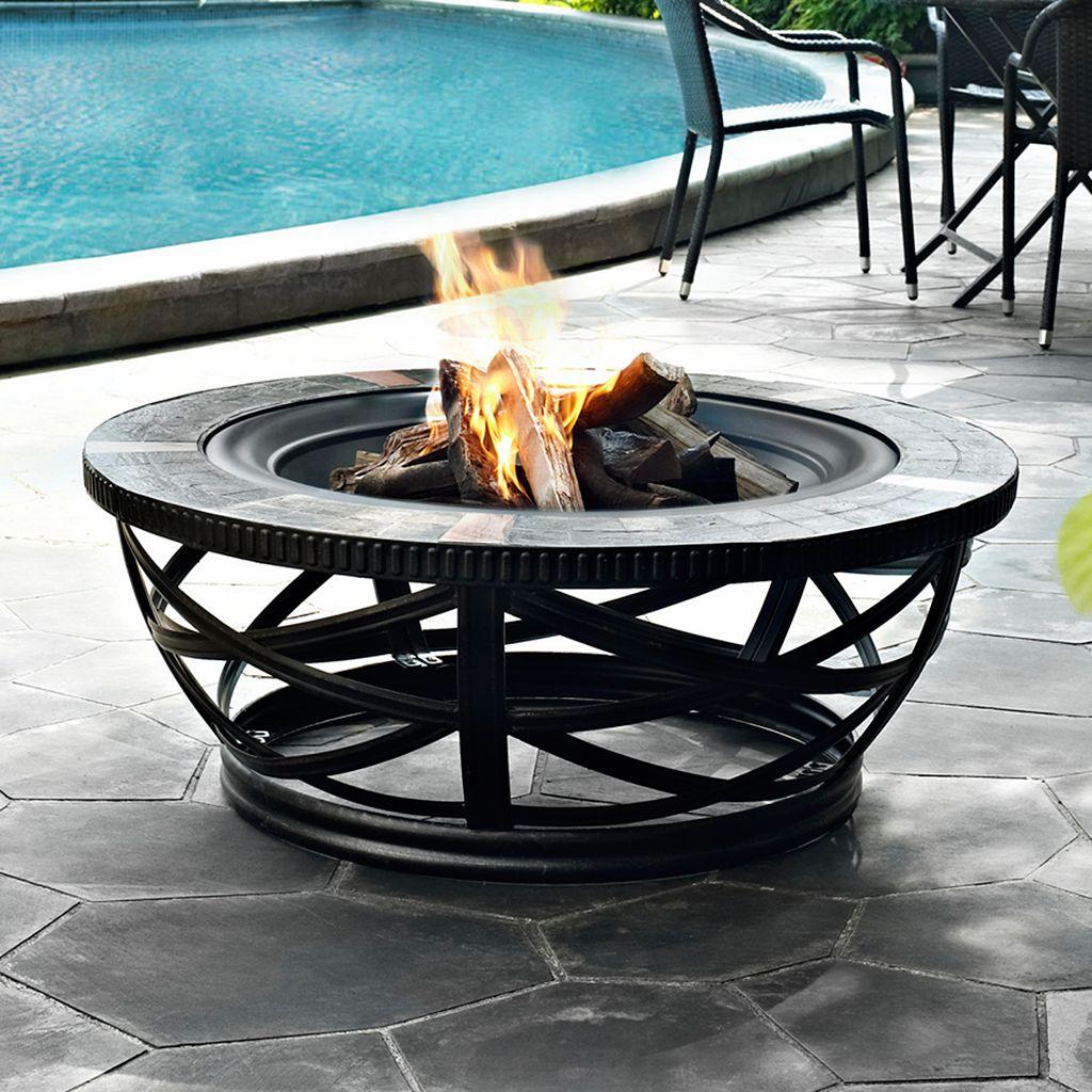 Glendale Round Slate Fire Pit