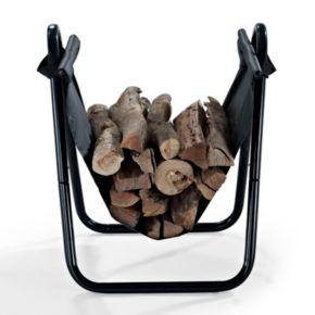 Logan Firewood Storage Carrier in Black