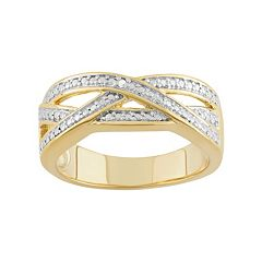 18k Gold Over Silver Openwork Ring