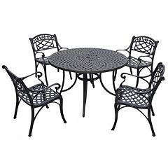 Sedona 46' 5 pc Cast Aluminum Outdoor Dining Set