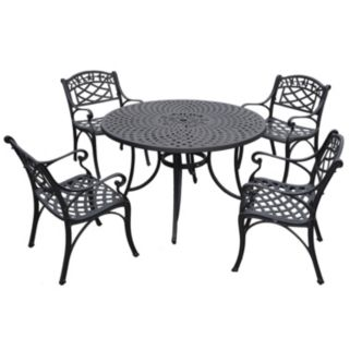 "Sedona 46"" 5-Piece Cast Aluminum Outdoor Dining Set"