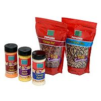 Wabash Valley Farms 5 pc Gourmet Popping Popcorn Kernels & Classic Seasonings Set