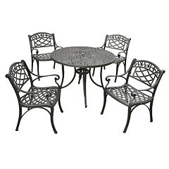 Sedona 42' 5-Piece Cast Aluminum Outdoor Dining Set