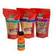 Wabash Valley Farms 4 pc Gourmet Popping Popcorn Kernels & Blended Popping Oil Set