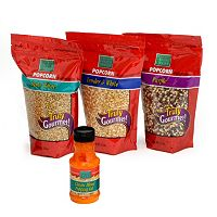 Wabash Valley Farms 4 pc Gourmet Popping Popcorn Kernels & Blended Popping Oil Set