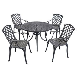 "Sedona 42"" 5-Piece Cast Aluminum Outdoor Dining Set"