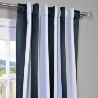 EFF Awning Striped Blackout Window Curtain - 50'' x 63''