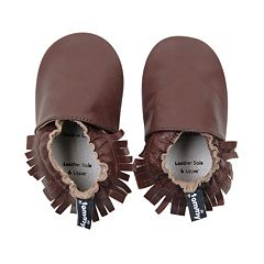 Tommy Tickle Moccasin Crib Shoes - Baby Girl