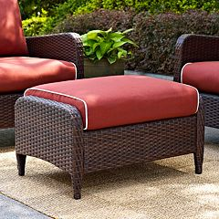 Kiawah Outdoor Wicker Ottoman