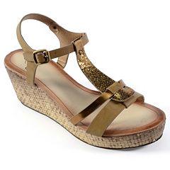 Corkys Basketweave Women's Wedge Sandals by