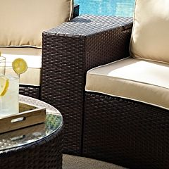 Crosley Outdoor Catalina Outdoor Wicker Arm Table