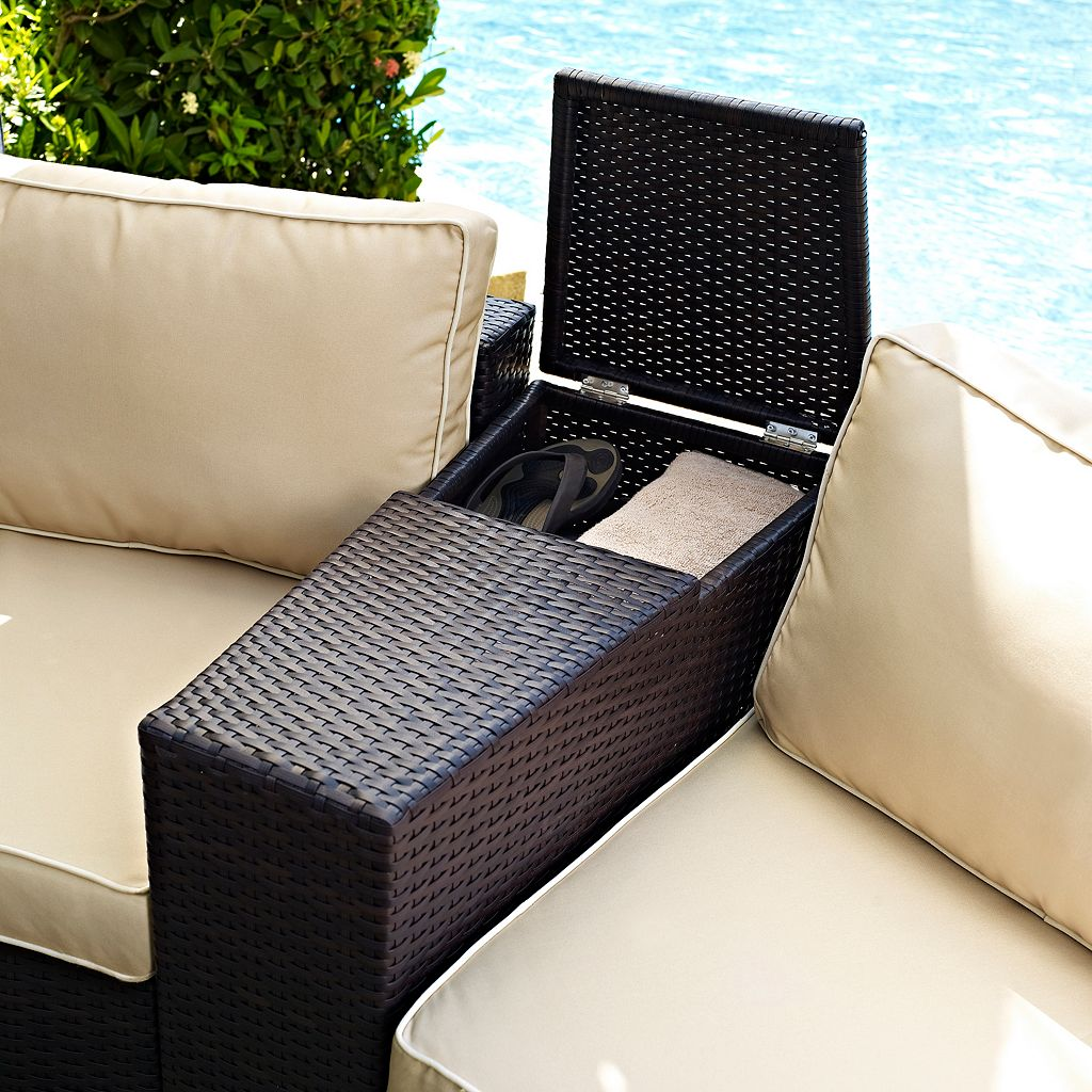 Crosley Outdoor Catalina Outdoor Wicker Arm Table