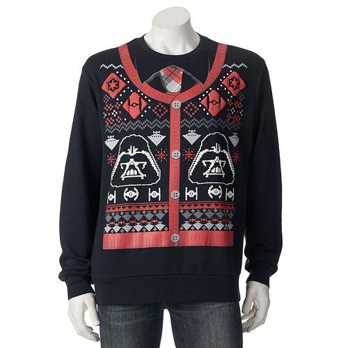 "Men's Star Wars Darth Vader ""Holiday Sweater"" Sweatshirt"