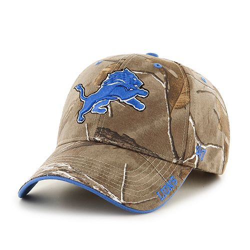 Adult '47 Brand Detroit Lions Frost Realtree Camouflage Adjustable Cap
