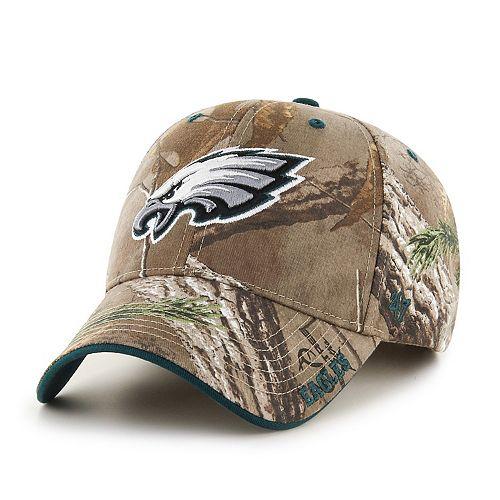 Adult '47 Brand Philadelphia Eagles Frost Realtree Camouflage Adjustable Cap
