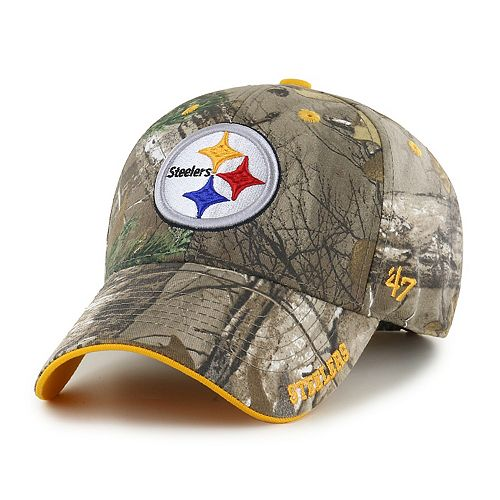 Adult '47 Brand Pittsburgh Steelers Frost Realtree Camouflage Adjustable Cap