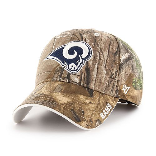 Adult '47 Brand Los Angeles Rams Frost Realtree Camouflage Adjustable Cap
