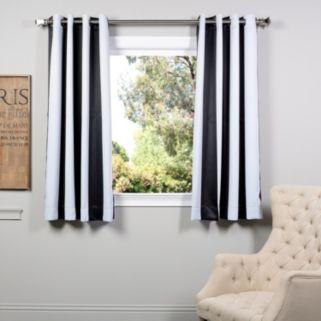 EFF Awning Striped Blackout Window Curtain - 50'' x 63''
